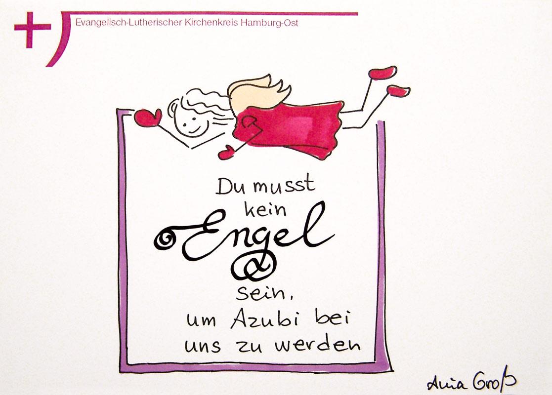 Nicht nur Engel dürfen eine Ausbildung bei der Kirche machen. @ Sketchnotes: Ania Groß