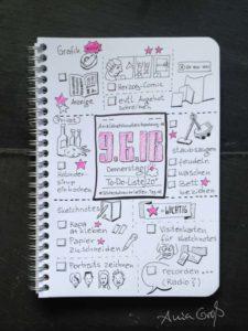 Tag 11. To-do-Liste. Zeichnung und Foto: Ania Groß