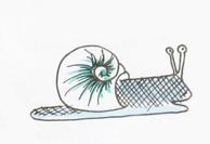 Schnecke. Detail aus einer anderen Sketchnote. © Zeichnung und Foto: Ania Groß